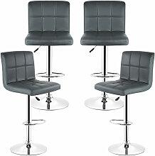 4x Barhocker Barstuhl Küchenstuhl Drehstuhl mit 6