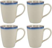 4x Becher, Tasse RIFT Blue OMBRE für 400ml