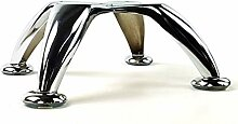 4x CHROME FURNITURE FEET METAL FURNITURE LEGS FOR