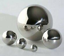4x Edelstahlkugel Silber glänzend Ø 6 cm