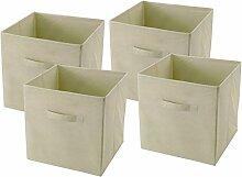 4x Faltbox Faltkiste Regalkorb Regalkiste Regalbox