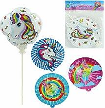 4X Folienballon Einhorn Luftballon