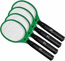 4x Globol Elektrische Fliegenklatsche - Einfach und sicher gegen fliegende Insekten