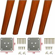 4x Holzmöbel Beine Möbelfüße,Massivholz