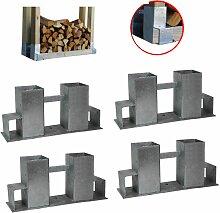 4x Holzstapelhilfe Stapelhilfe Holzstapelhalter