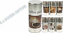4x Kaffeepad-Dose, Dekodose, zufällige Dekore,