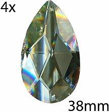 4X Kristall Wachtel 38mm Regenbogenkristall Feng
