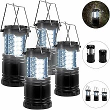 4x LED Campinglampe Camping Laterne | wasserdicht
