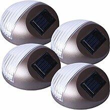 4x LED Solar Zaunleuchten Wegeleuchten Türschild