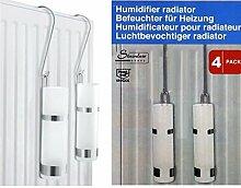 4x Luftbefeuchter Edelstahl Glas Wasser-Verdunster