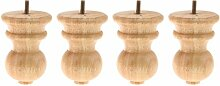 4x Möbelfüße Tischbein Möbelfuß Holzfüße