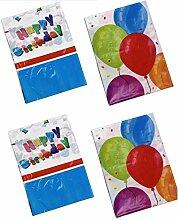4x Party-Tischdecke Luftballons und Geburtstag