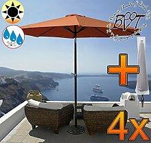 4x PREMIUM-Sonnenschirm mit Hülle / MEGA-XXL
