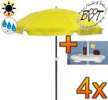 4x PREMIUM-Sonnenschirm UV50+ mit Getränketisch /