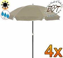 4x PREMIUM-Sonnenschirm UV50+sonnendicht / XXL
