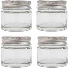 4x Stück 15ml Klare Glas Krüge/Saat- &