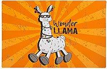 4x Tischset Llama - Orange   Lama Geschenk   Tischset abwischbar   Wohnzimmer Deko   Tischset Kinder   Geschenkidee für Kinder   Preis am Stiel®