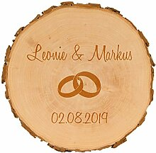 4you Design Baumscheibe Ringe zur Hochzeit -
