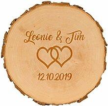 4you Design Baumscheiben zur Hochzeit mit Gravur -