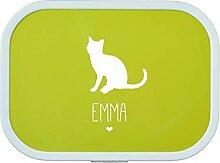 4you Design Brotdose Katze Silhouette mit Namen |
