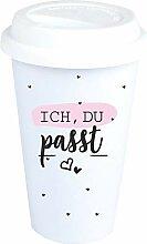 4you Design Coffee-to-Go-Becher Ich, Du. passt -