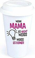 4you Design Coffee-to-Go-Becher Spruch Wenn Mama