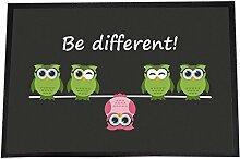 4you Design Designer Fußmatte Be Different