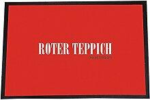 4you Design Designer Fußmatte Roter Teppich-