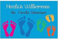 4you Design Fußmatte Füße mit Namen -