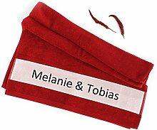 4you Design Handtuch 50x100 mit Namen für Paare -