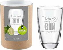 4you Design Leonardo Gin-Glas I Love You More Then