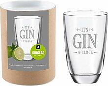 4you Design Leonardo Gin-Glas It`s Gin o`Clock mit