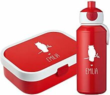 4you Design Set ✶Brotdose & Trinkflasche Eule