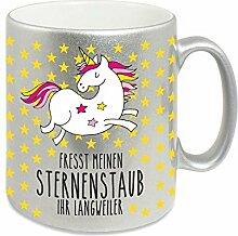 4you Design Silberne Tasse Fresst Meinen