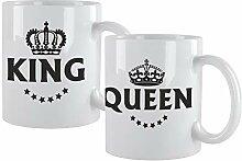 4you Design Tassen Set King & Queen - 2er Set