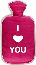 4you Design Wärmflaschenbezug I Love You,