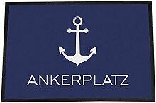 4you Design XXL Fußmatte Ankerplatz 50 x 70 cm,