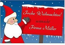 4you Design XXL Fußmatte Frohe Weihnachten mit