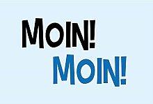 4you Design XXL Fußmatte Moin Moin, Fußabtreter,