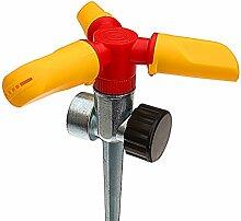 4YourHome Heavy Duty Plastik Bewässerung Garten Sprinkler mit 3 Arms & 6m Streuen Range