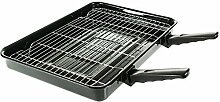 4Yourhome Superior groß Ofen Grill Pan & Rack mit
