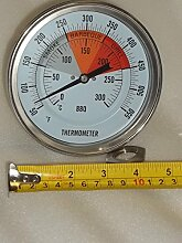 "5"" BBQ Pit Smoker Grill Thermometer"