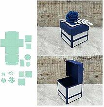 5,1 cm Gastgeschenk-Box Set Metall Stanzformen