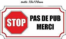 5Aufkleber Sticker Stop Pus-Pub vielen Dank