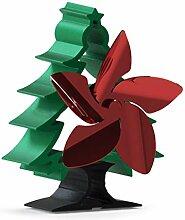 5 Blätter Wärmebetriebener Kaminofen Fan