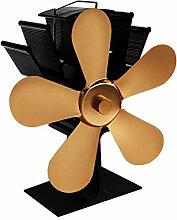 5 Blätter Wärmebetriebener Kaminofen Lüfter