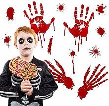 5 Blatt Halloween-Aufkleber, blutige