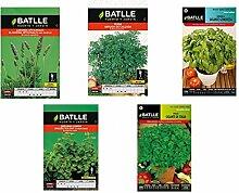 5Briefumschläge Kräuter-Samen (Lavendel,