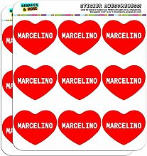 5cm (5,1cm) Scrapbooking, Aufkleber I love Herz Namen Stecker M Mac Marcelino