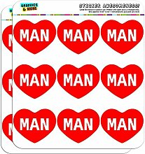 5cm (5,1cm) Scrapbooking, Aufkleber I love Herz Namen Stecker M Mac Man
